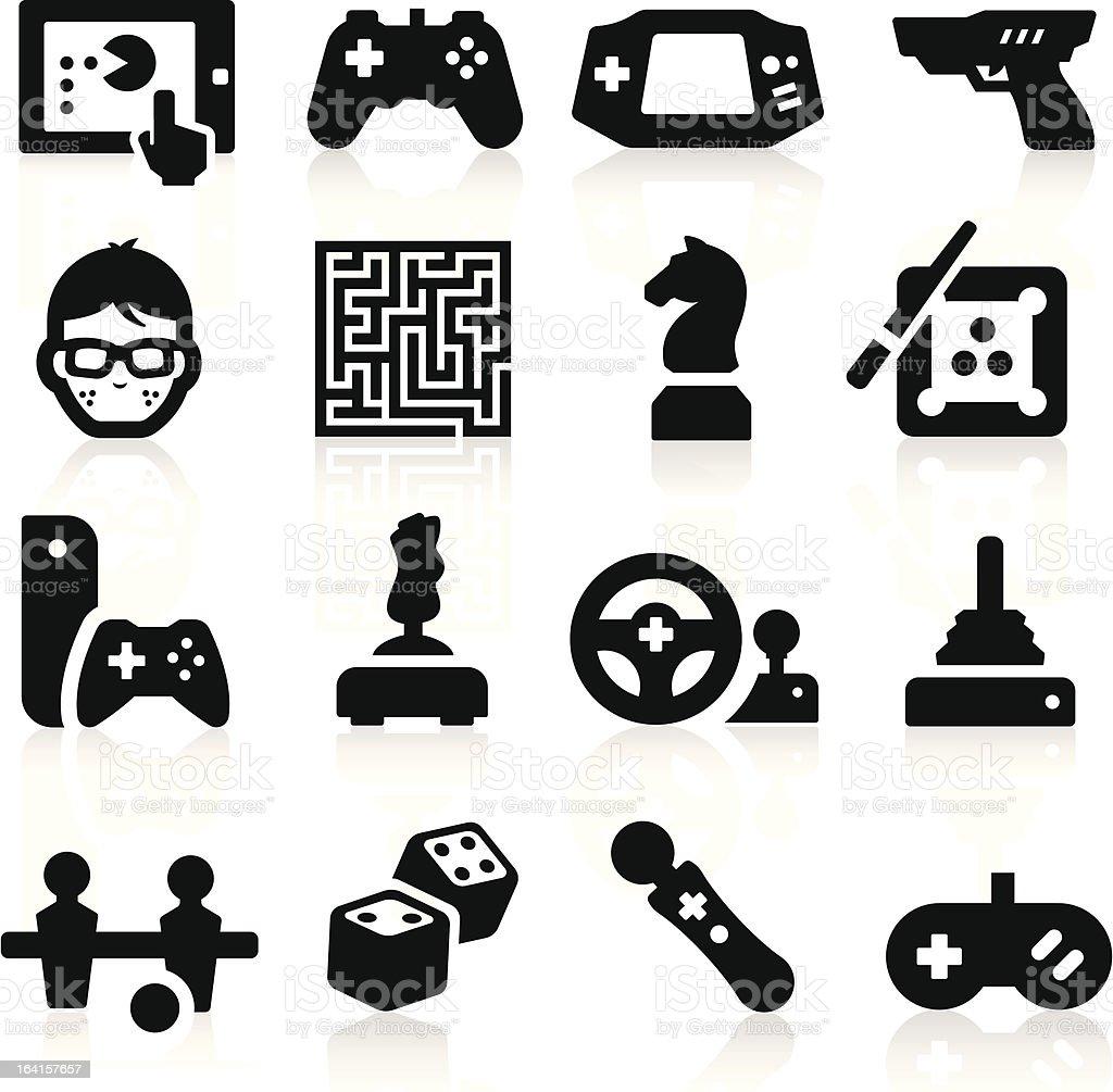 Entertaining Icons vector art illustration