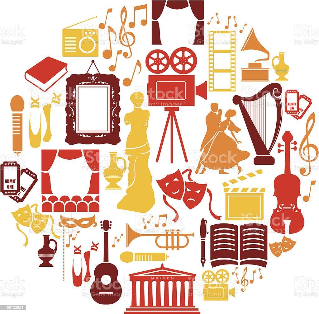 Entertainment and Culture Icon Set vector art illustration