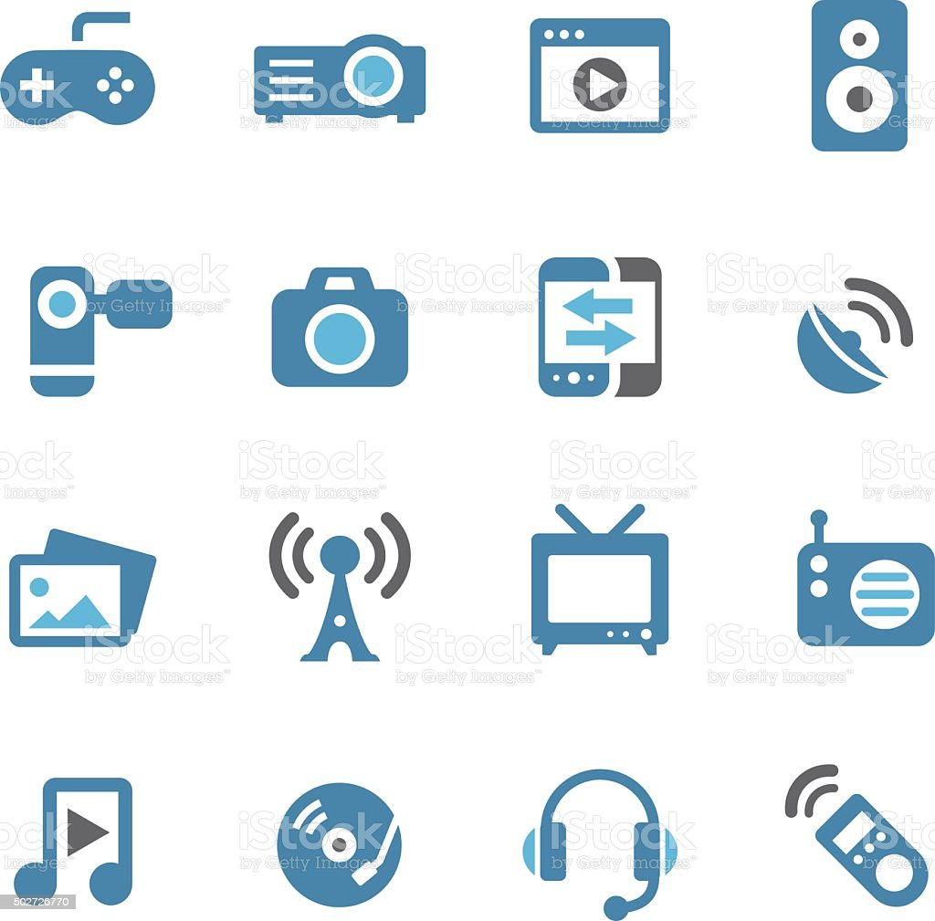 Entertainment and Media Icons - Conc Series vector art illustration