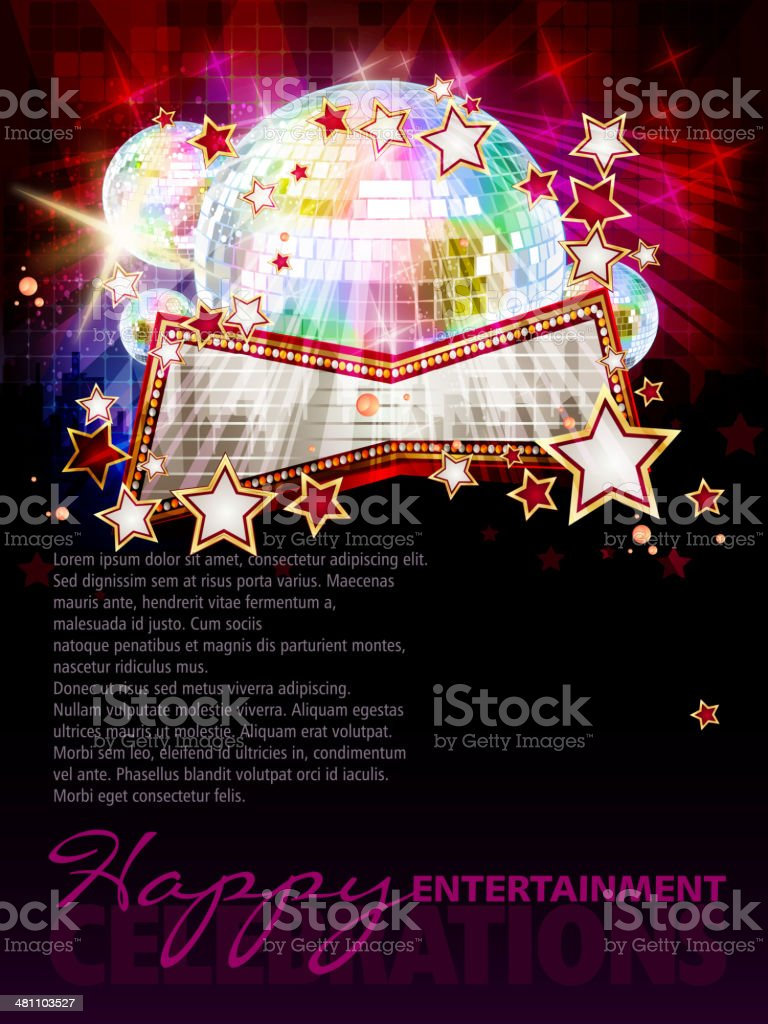 Entertainment Background with Copy space royalty-free stock vector art