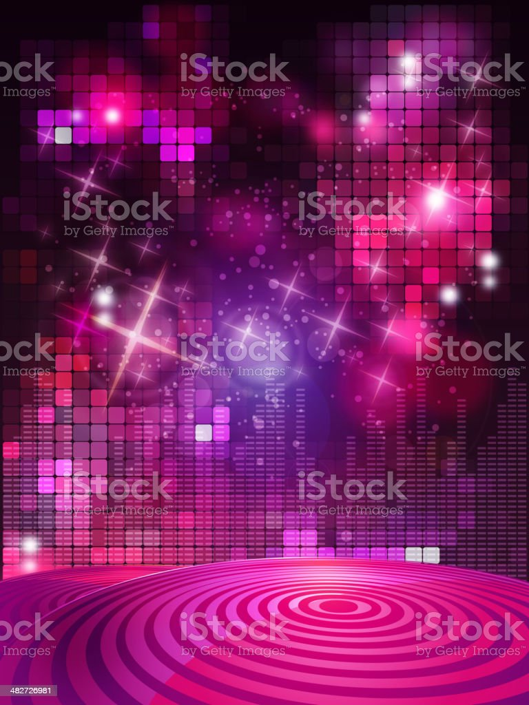 Entertainment Background with Flashlights vector art illustration