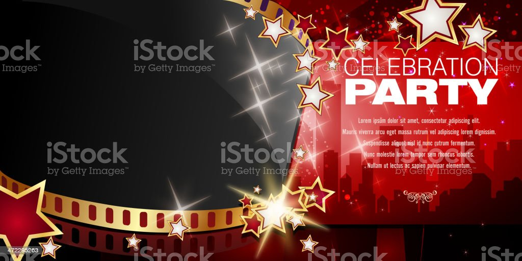 Entertainment - Film Background royalty-free stock vector art