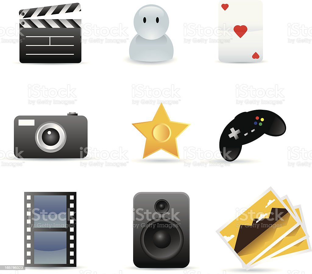 Entertainment Icon Set royalty-free stock vector art