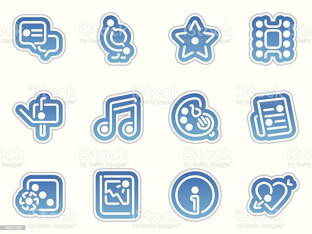 entertainment icons - azul frontera royalty-free stock vector art