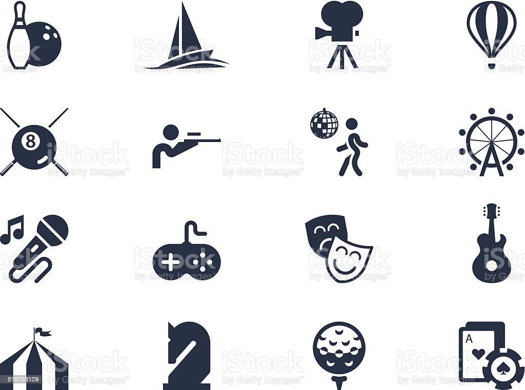Entertainment icons. Lyra series vector art illustration