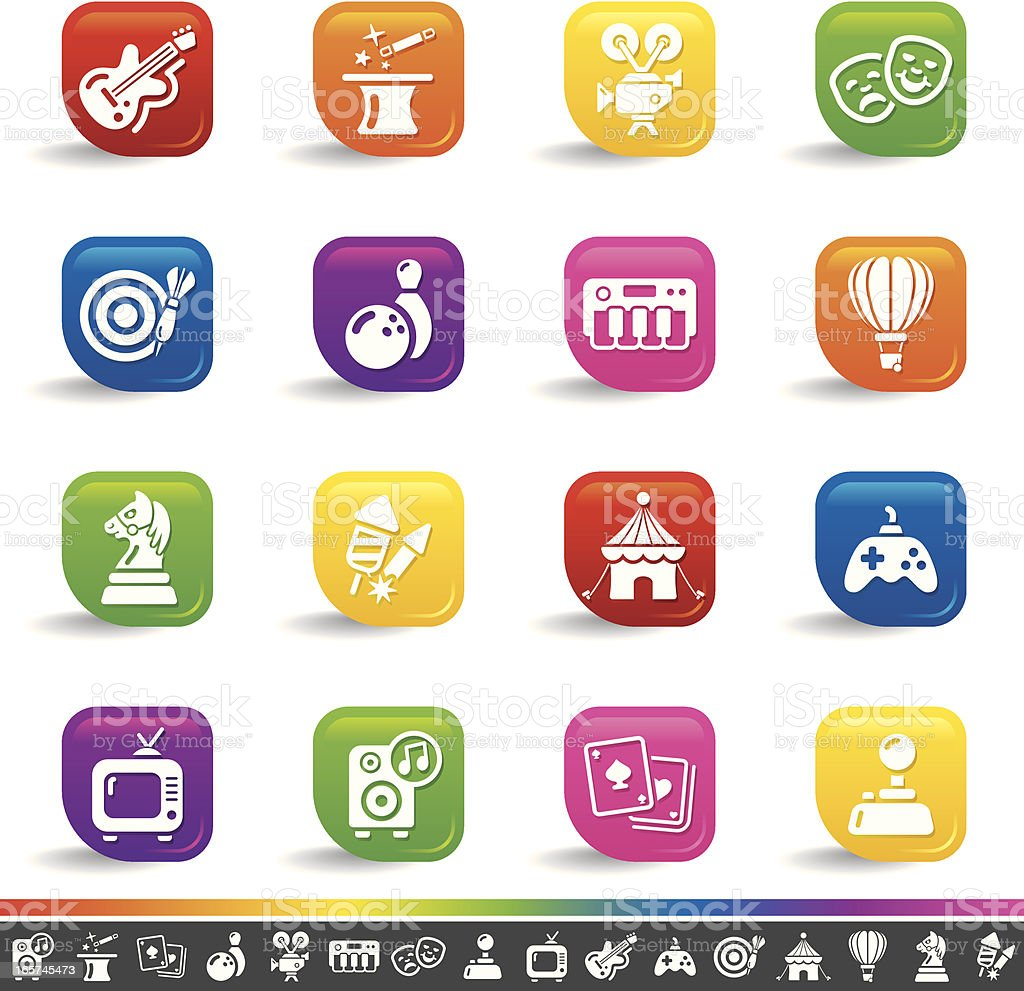 Entertainment icons   Rainbow Series royalty-free stock vector art