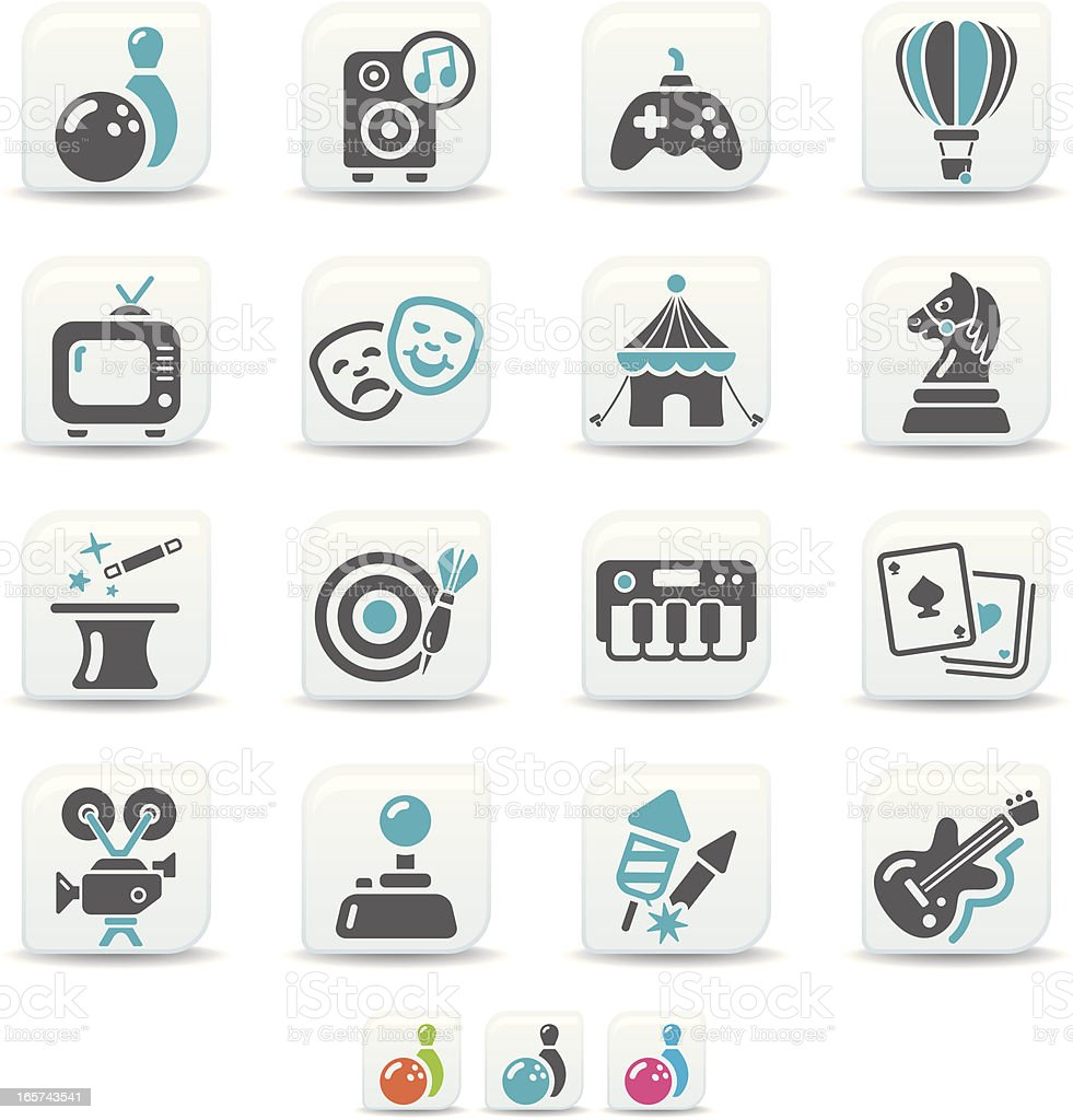 entertainment icons   simicoso collection vector art illustration