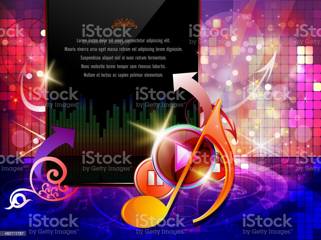 Entertainment - Music Background royalty-free stock vector art