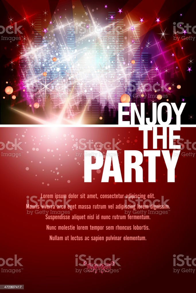Entertainment - Party Background vector art illustration