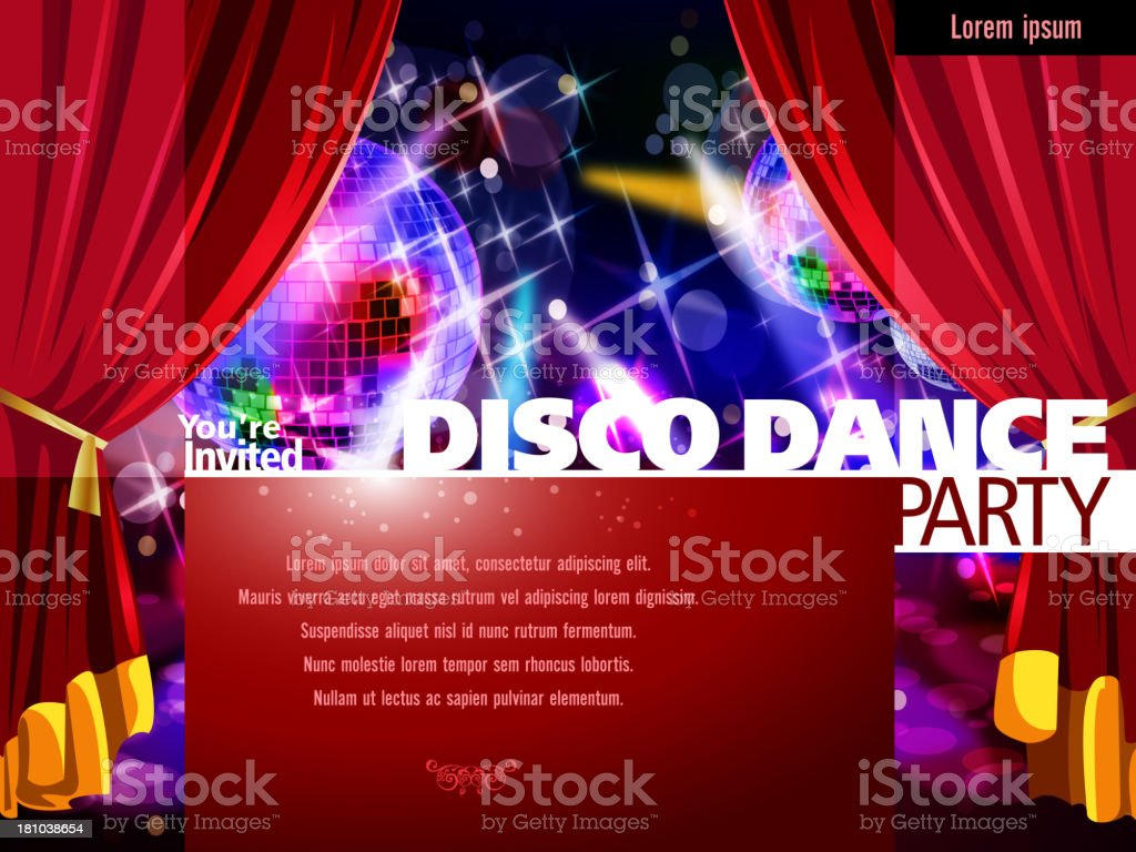 Entertainment - Party Background with Disco Balls royalty-free stock vector art