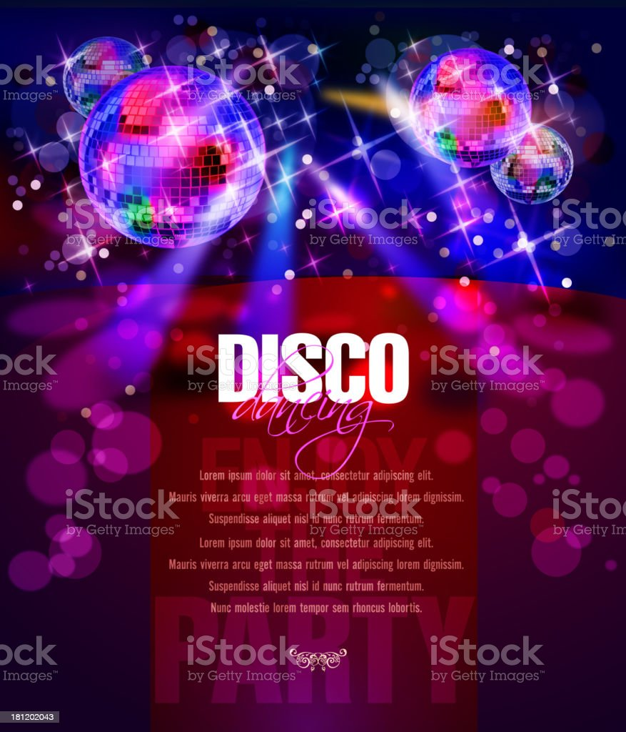 Entertainment - Party Background with Disco Balls vector art illustration