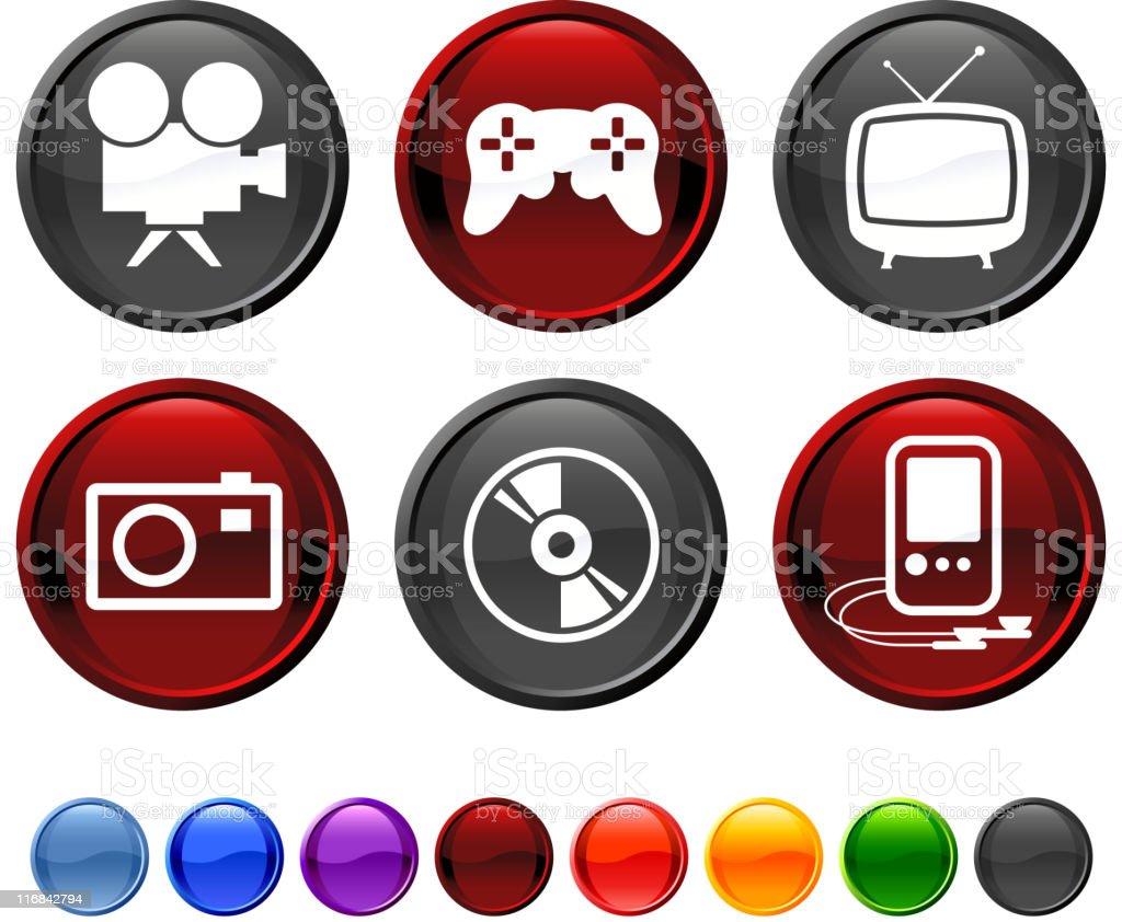 entertainment royalty free vector icon set royalty-free stock vector art