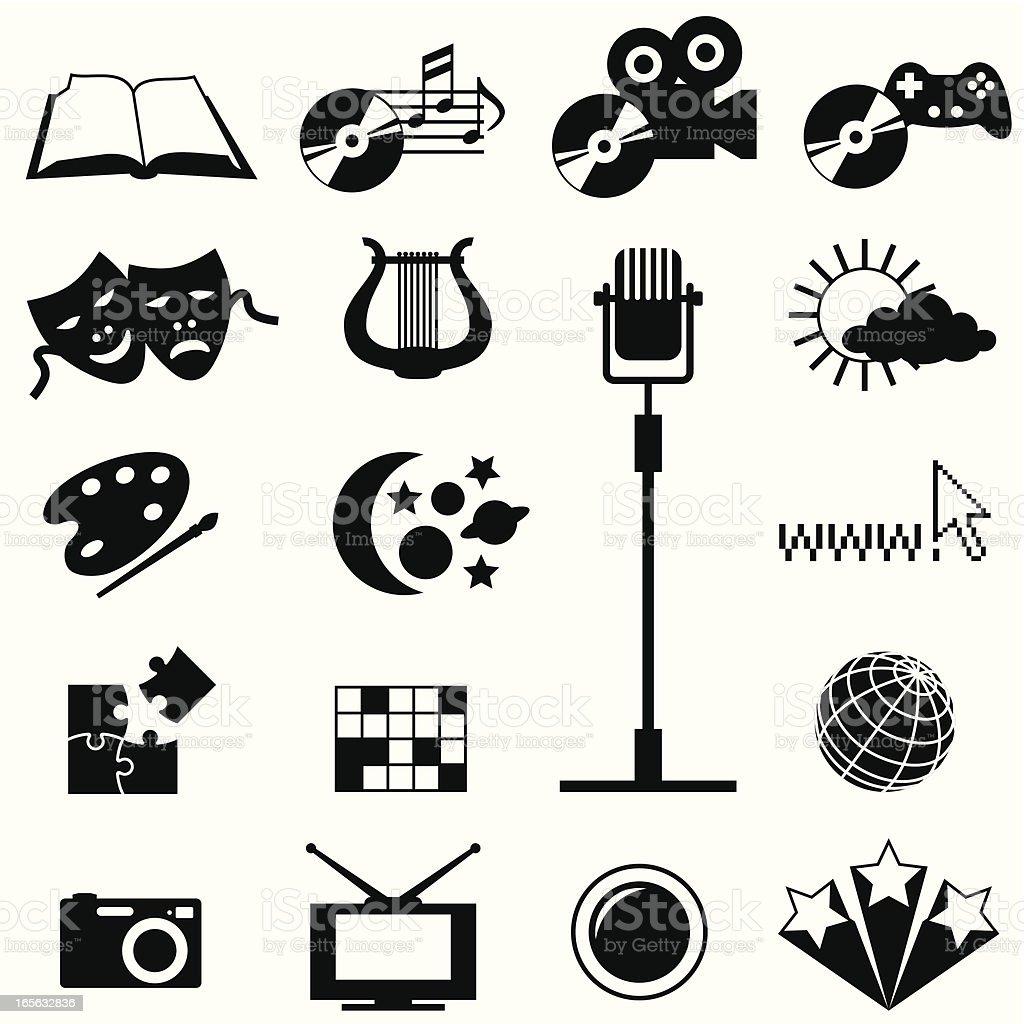 Entertainment Shapes royalty-free stock vector art