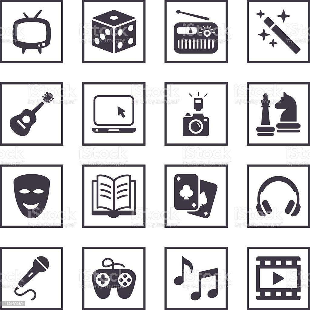 Entertainment  Symbols vector art illustration