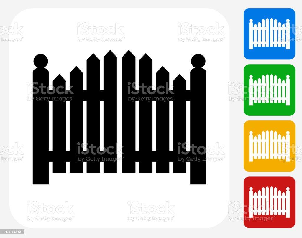 Entrance Gate Icon Flat Graphic Design vector art illustration