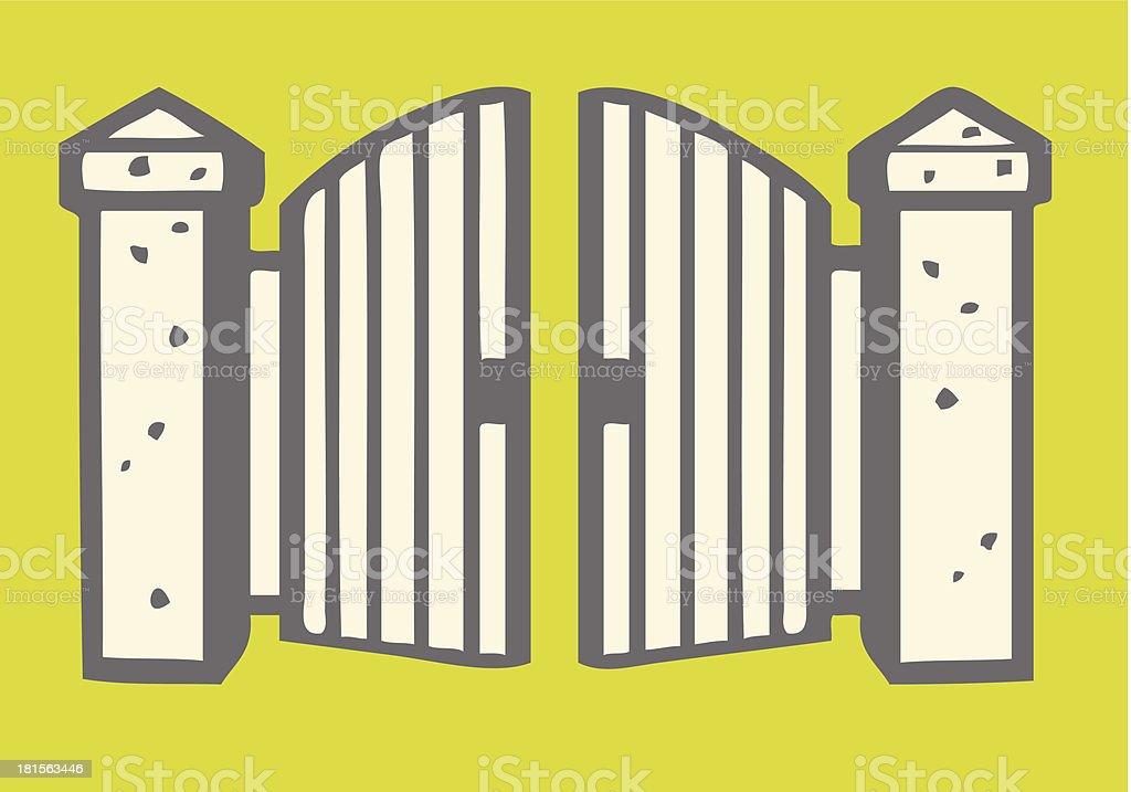 Entrance Gate royalty-free stock vector art