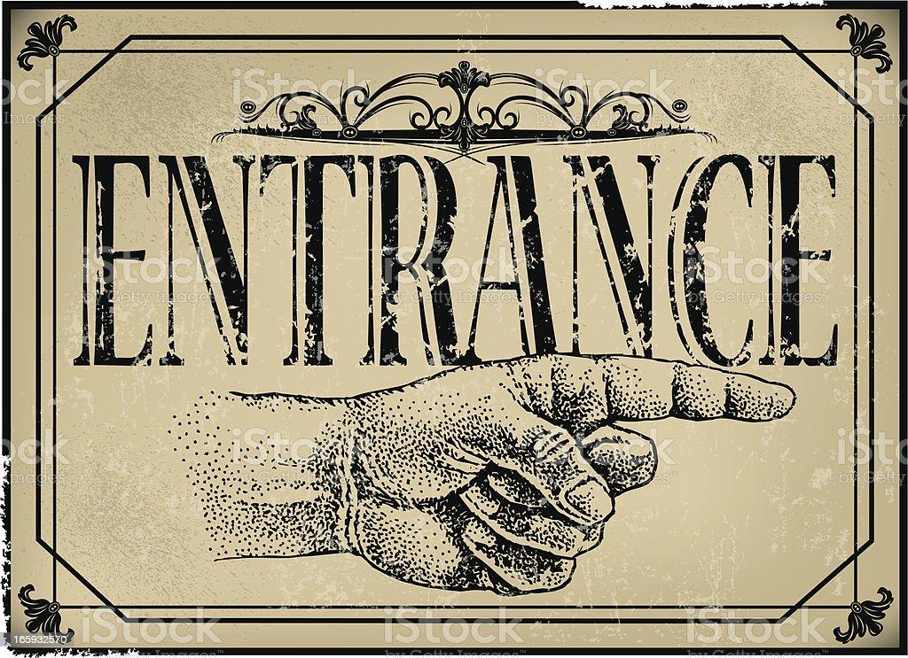 Entrance Sign - Retro royalty-free stock vector art