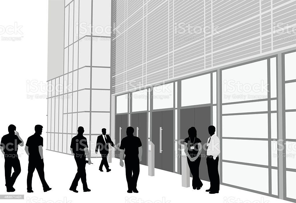 Entrance royalty-free stock vector art