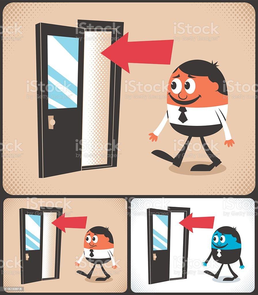 Entrance vector art illustration