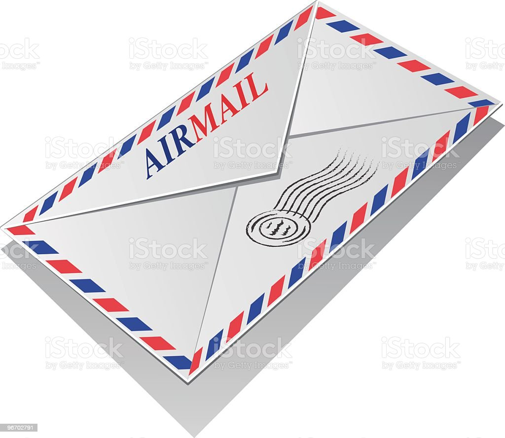 Envelope Air Mail royalty-free stock vector art
