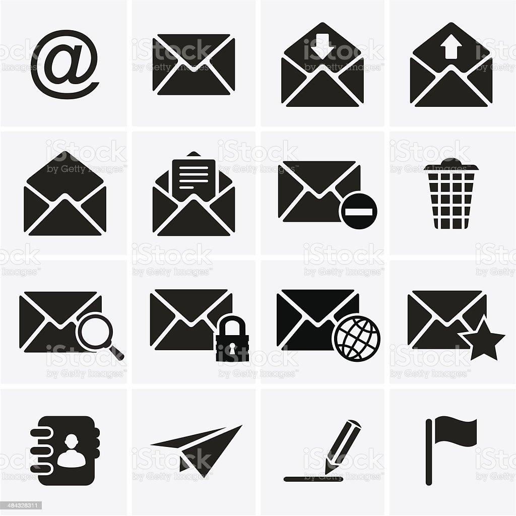 Envelope, E-mail Icons vector art illustration