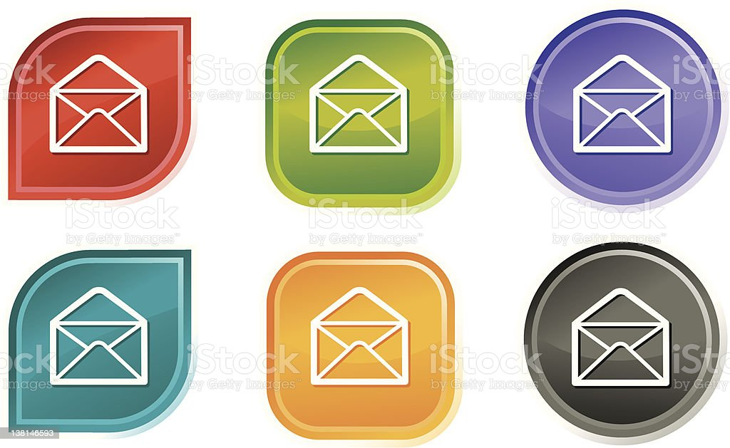 Envelope Icons royalty-free stock vector art