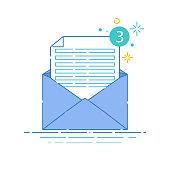 Envelope linear icon