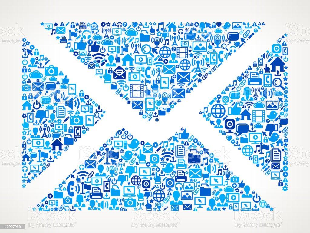 Envelope on vector technology pattern Background vector art illustration