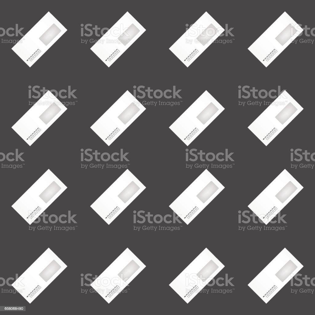 envelope seamless pattern vector art illustration
