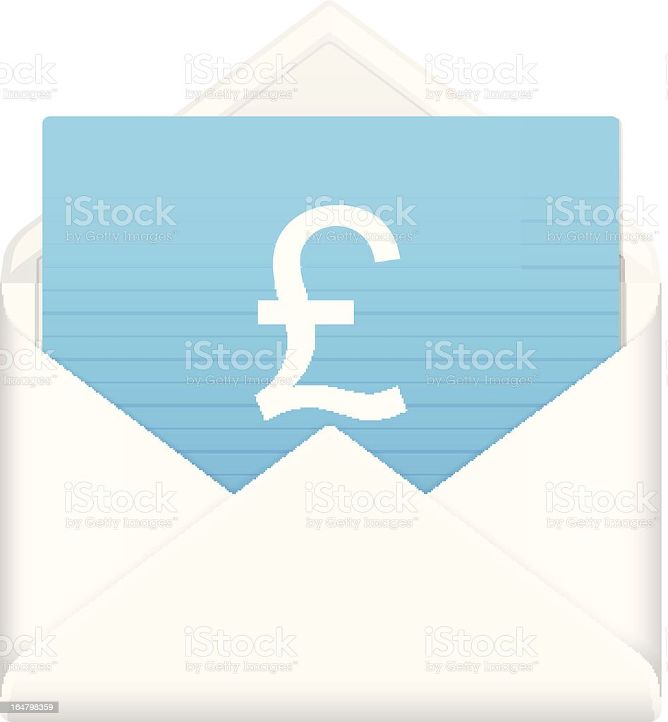 envelope with british pound symbol royalty-free stock vector art