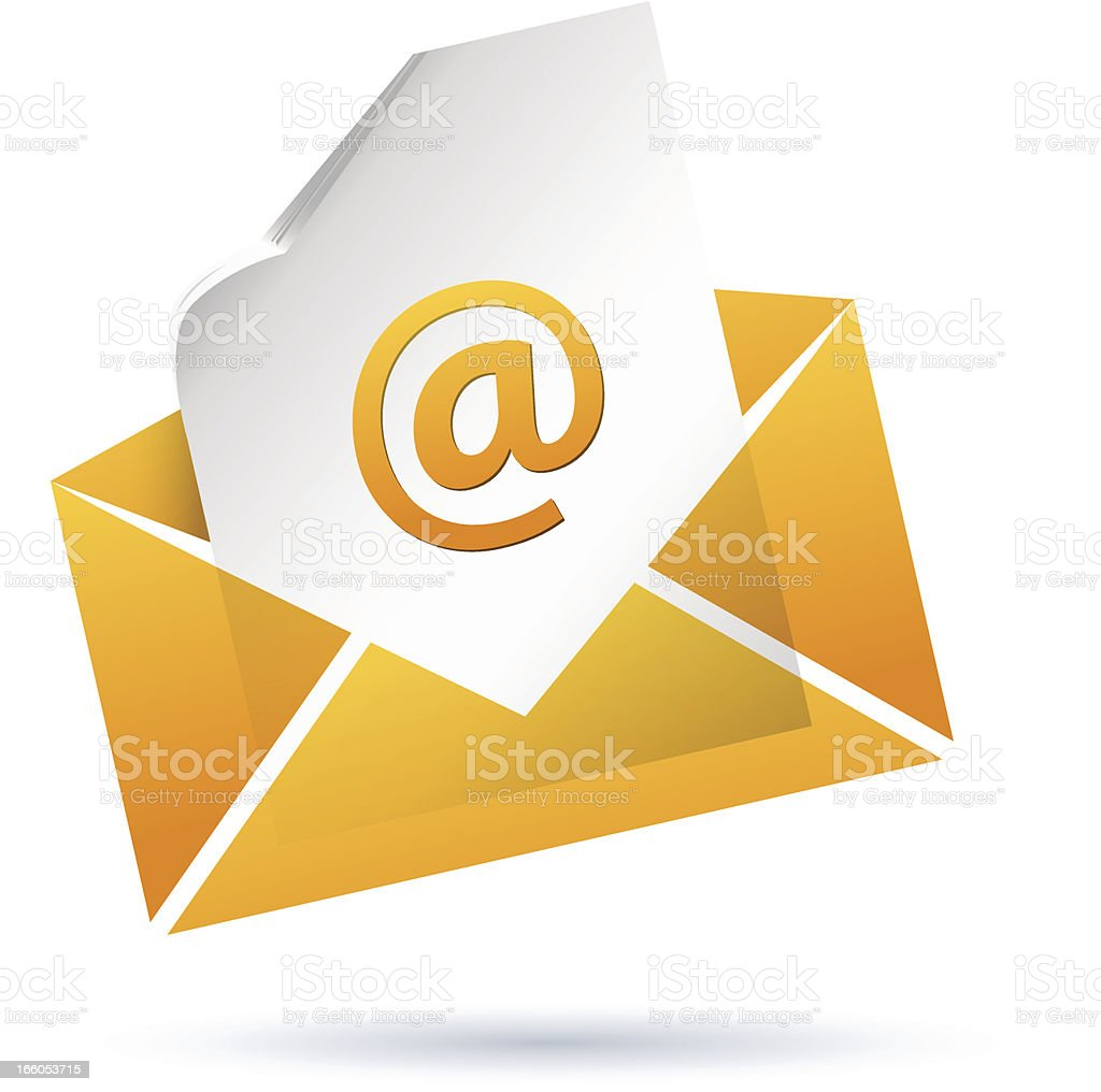 Envelope with E-Mail royalty-free stock vector art