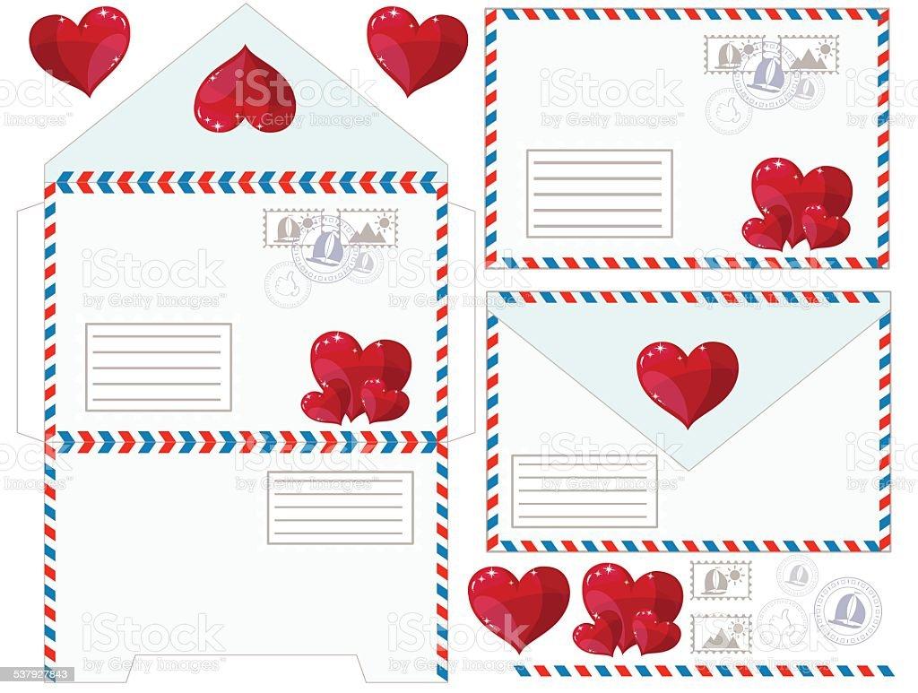 Любовные конверты для писем своими руками 58