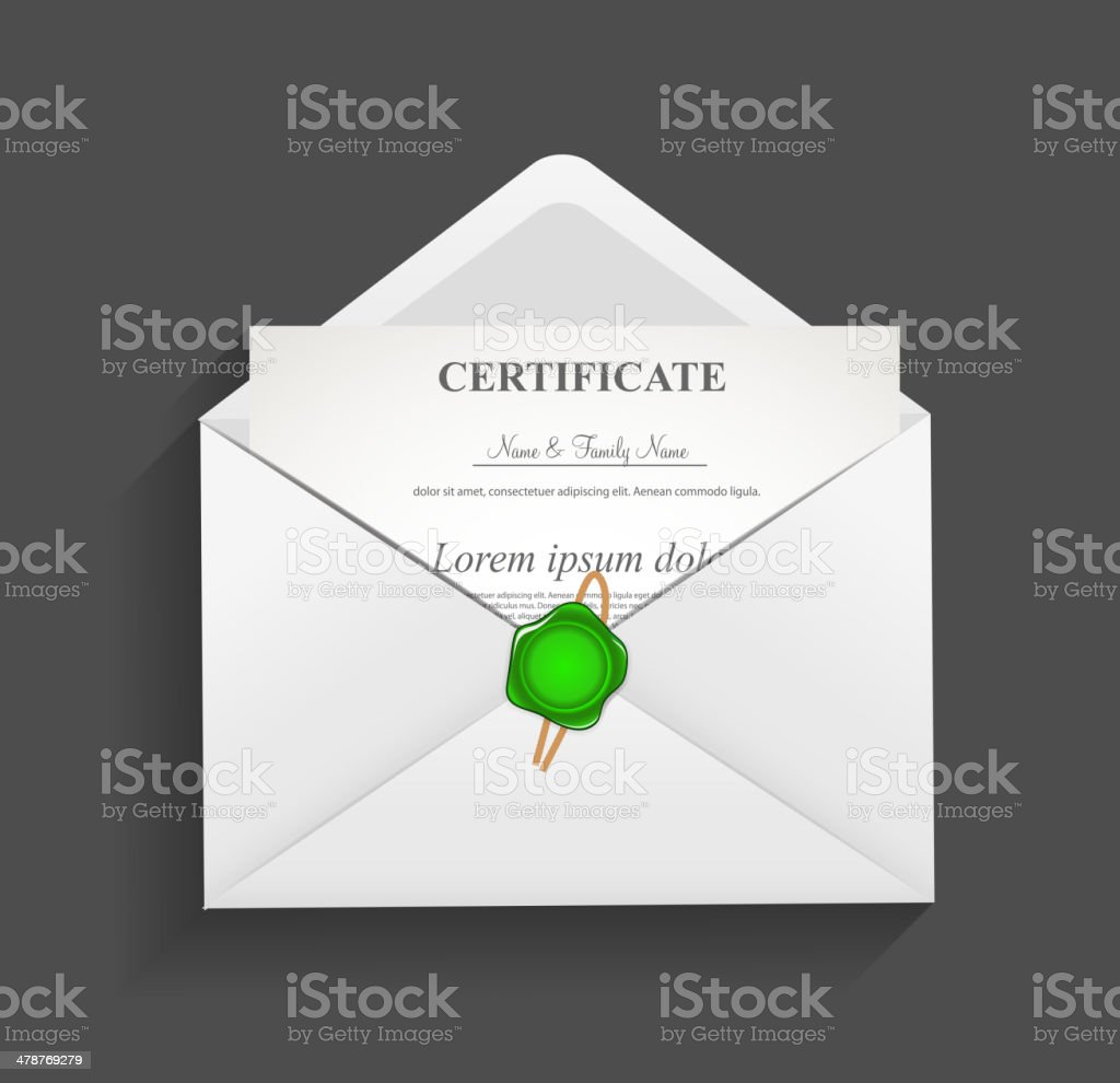 Envelope with Stamp Vector Illustration royalty-free stock vector art