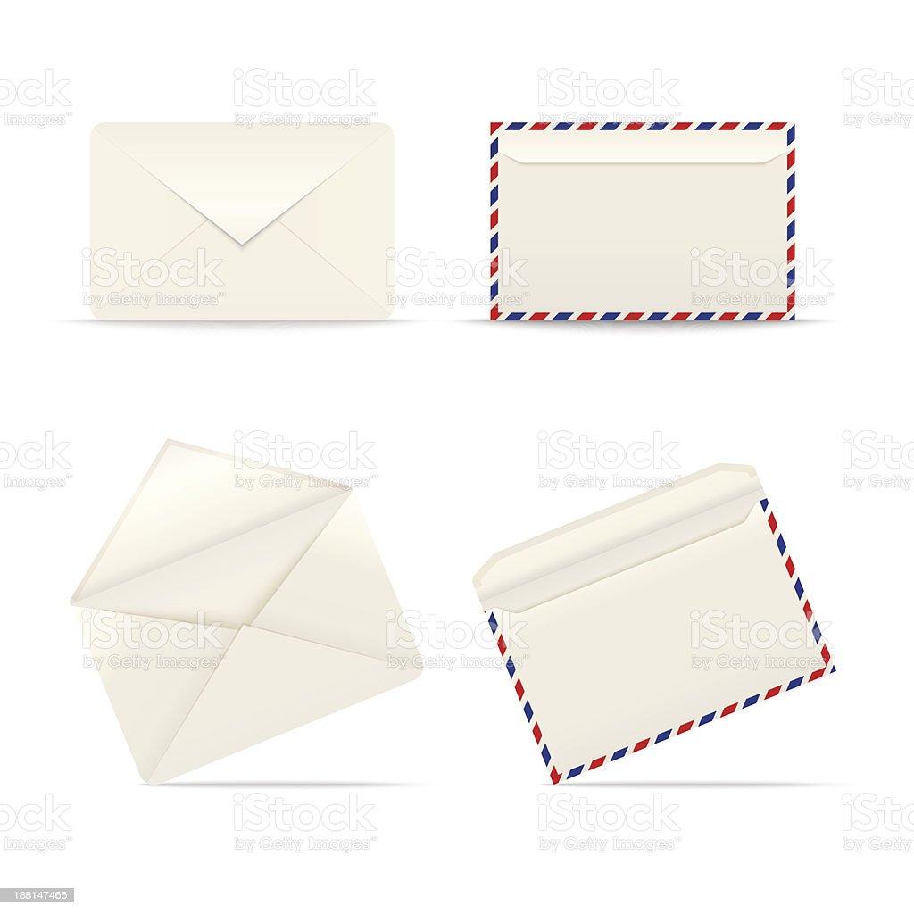 Envelopes icon on white background royalty-free stock vector art