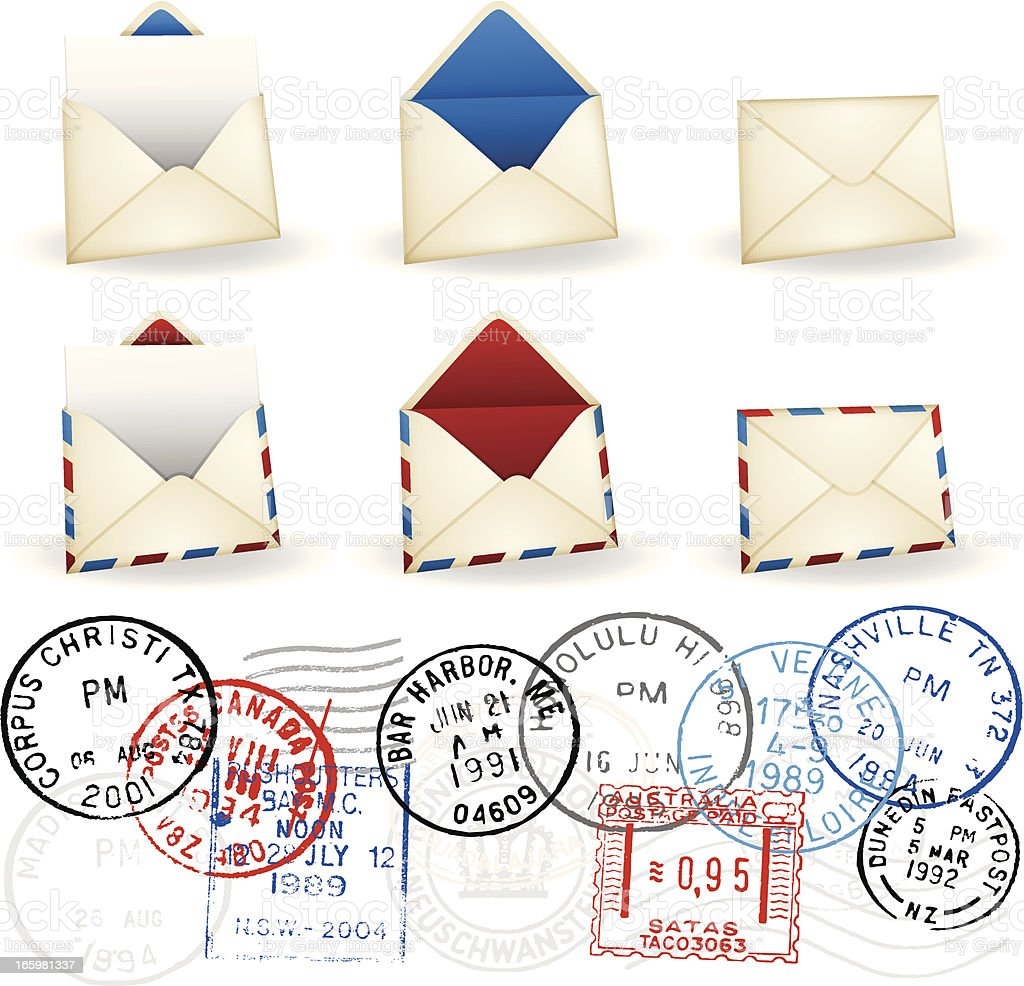 Envelopes royalty-free stock vector art