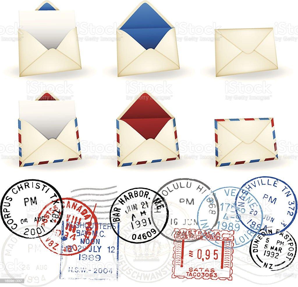 Envelopes vector art illustration
