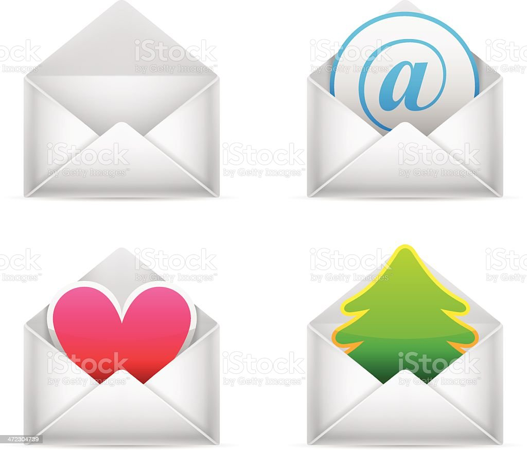 Envelopes. royalty-free stock vector art