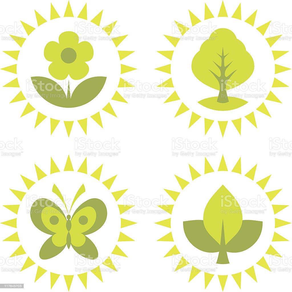 Environment and Ecology Symbols vector art illustration