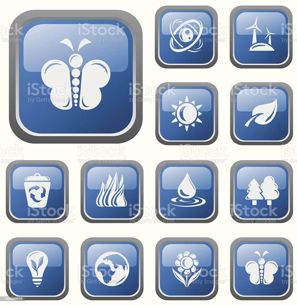 Environment buttons royalty-free stock vector art