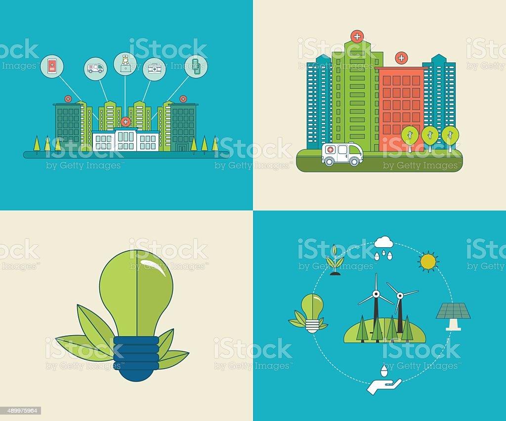 Environment concept for healthcare vector art illustration