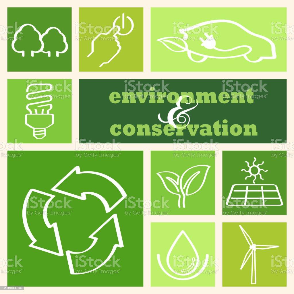 Environment Conservation vector art illustration
