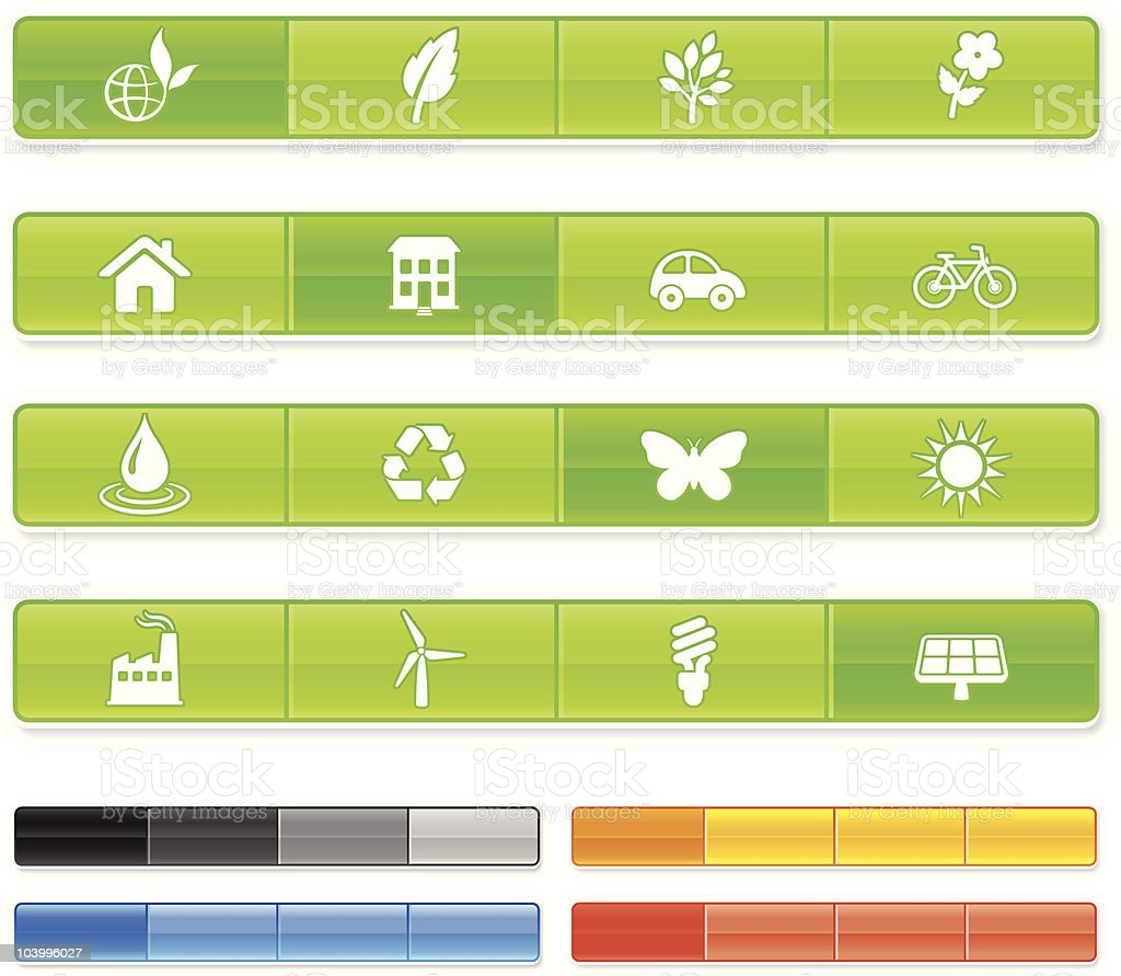 environment design elements with iconography set royalty-free stock vector art