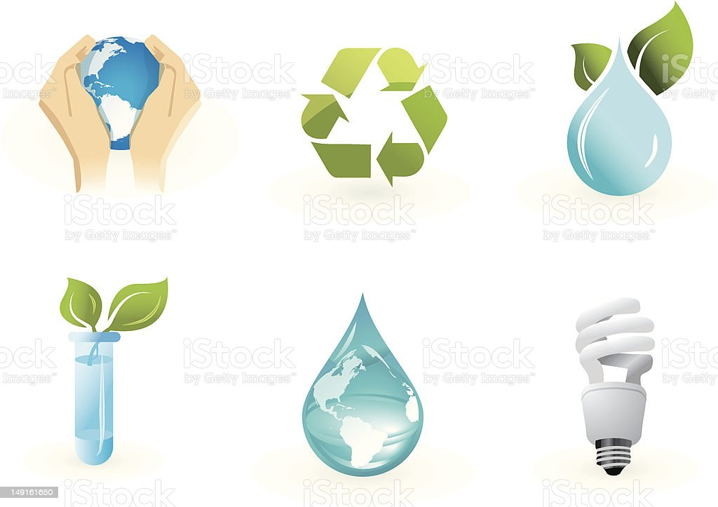 Environment  icon set. royalty-free stock vector art