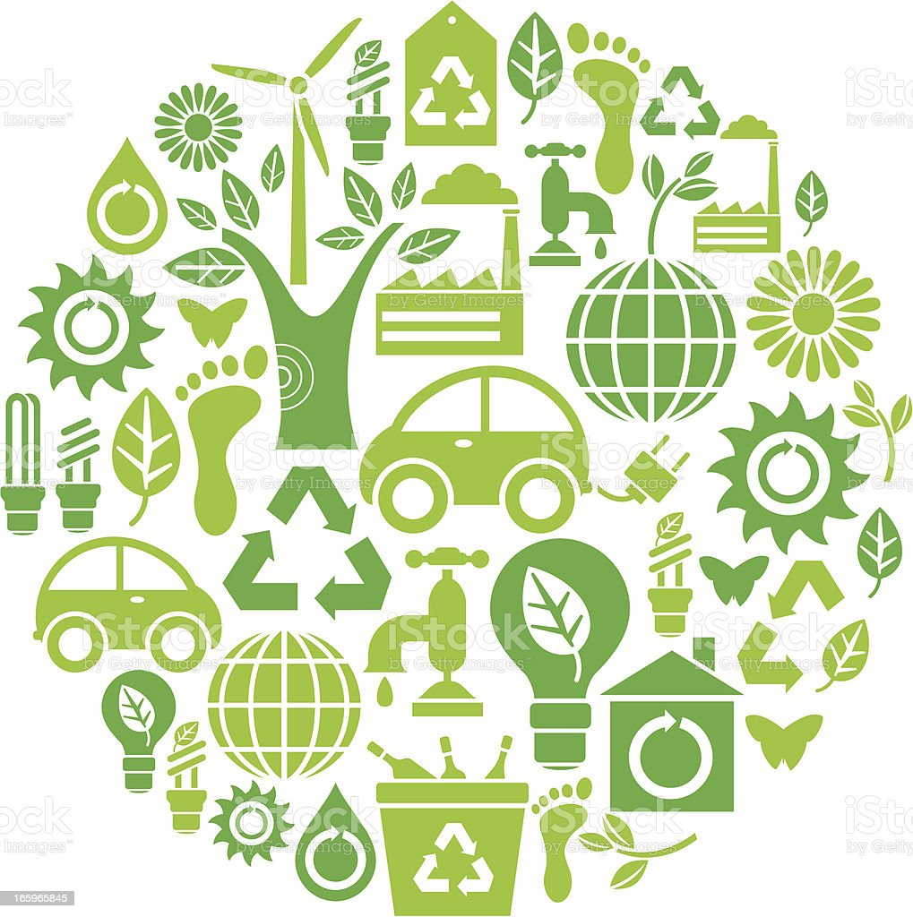 Environment Icon Set vector art illustration