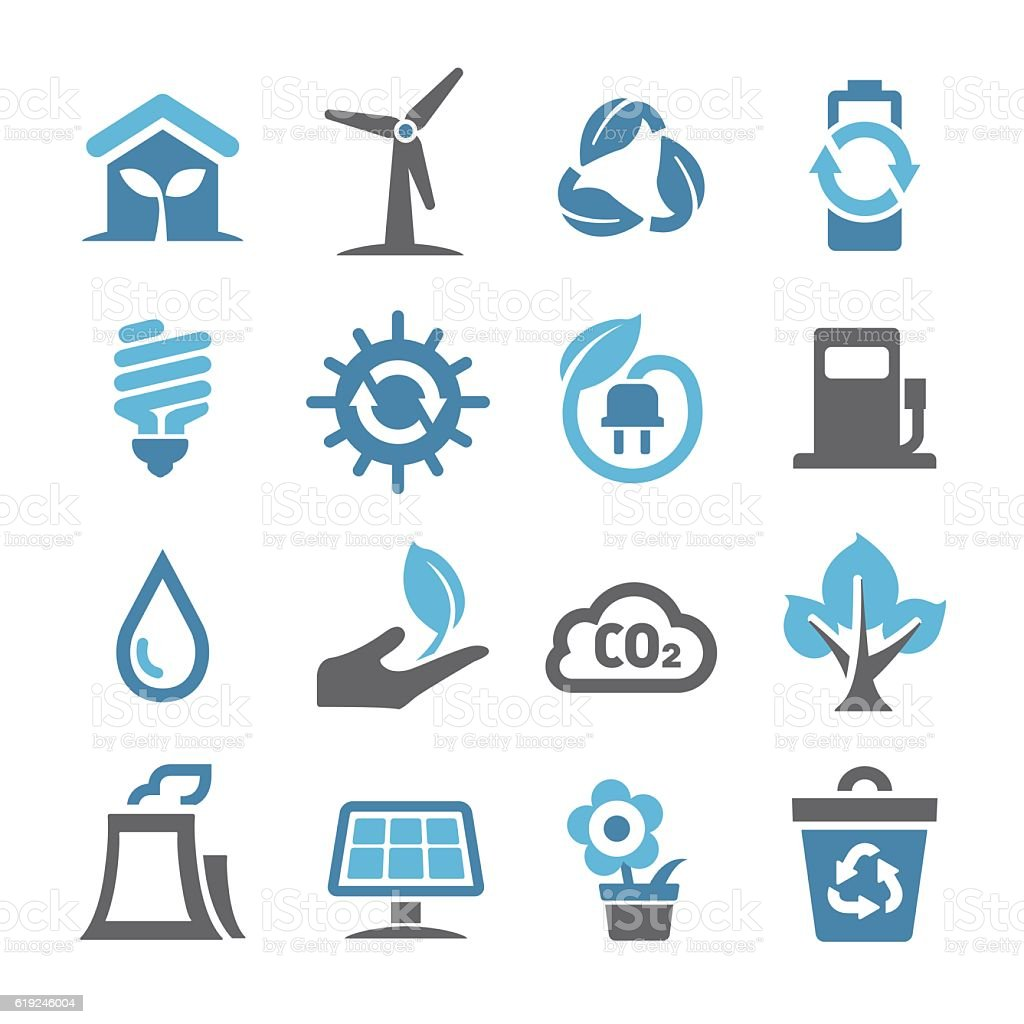 Environment Icons - Conc Series vector art illustration