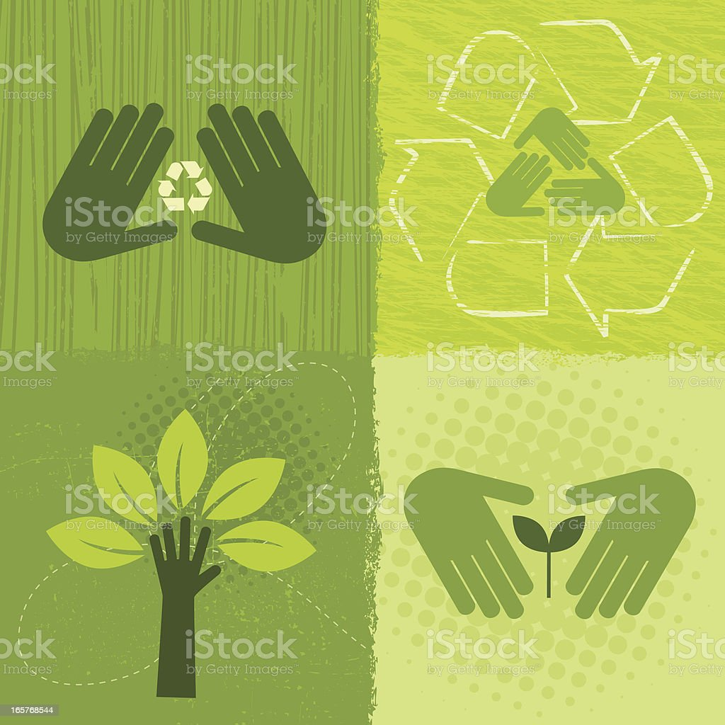 Environment Icons (Green World Series) vector art illustration