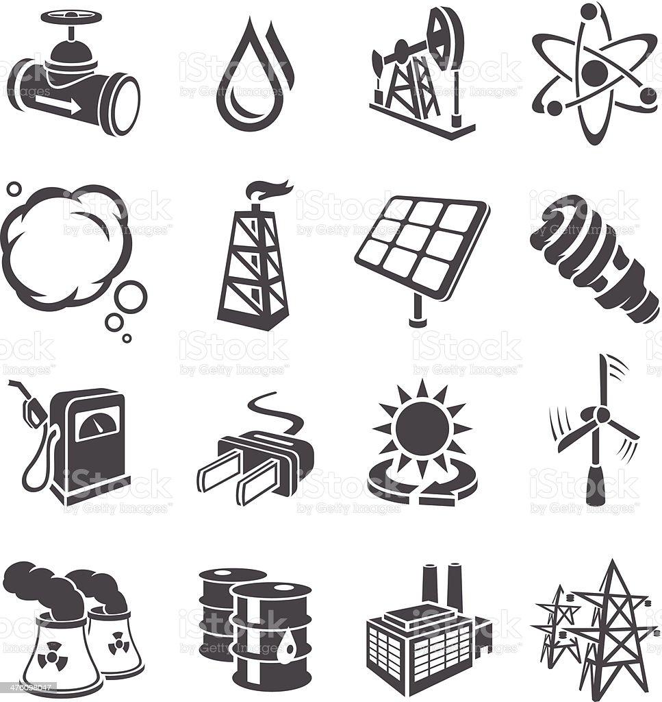 Environment Icons vector art illustration