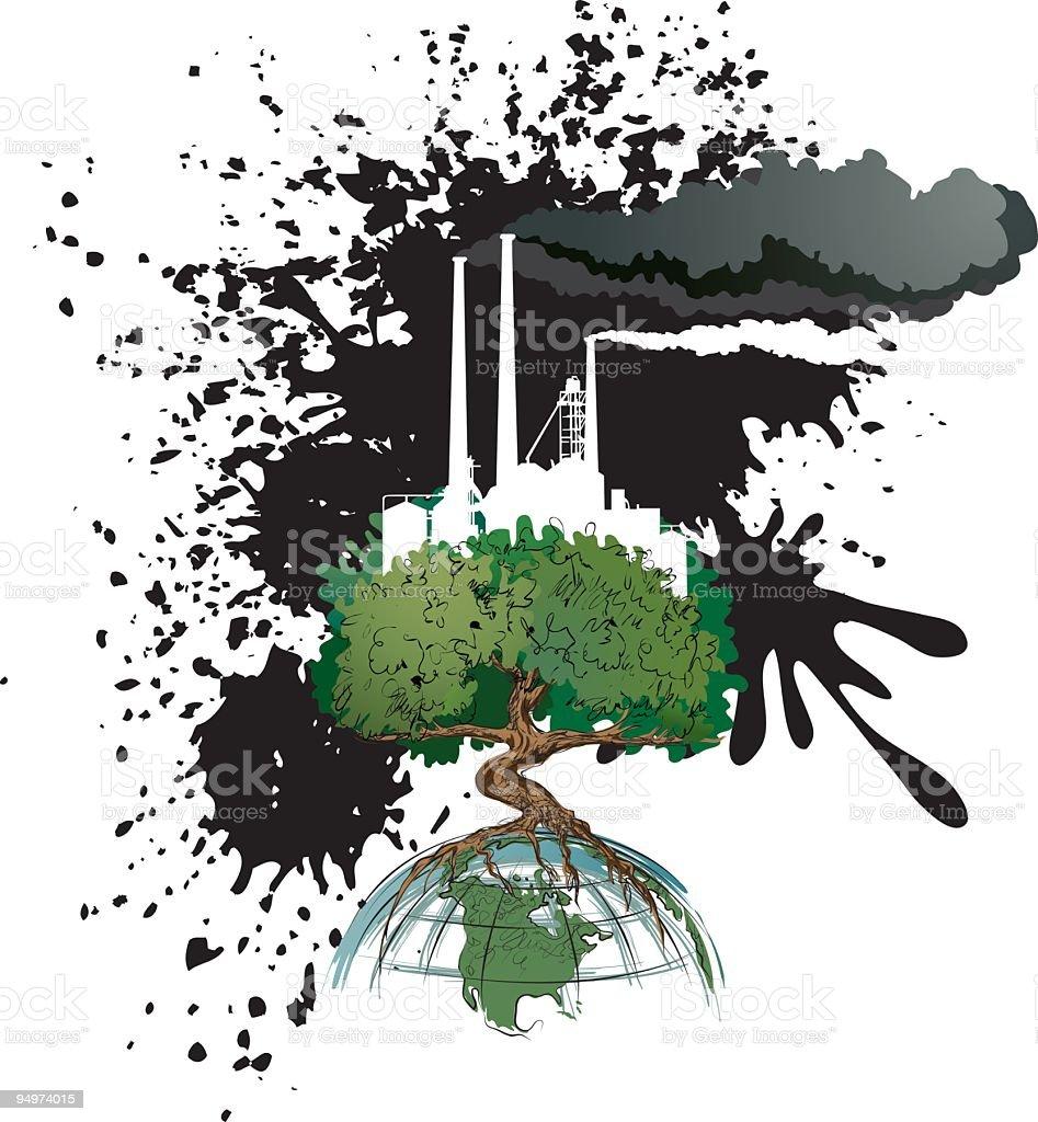 Environment - Industrial Air polution royalty-free stock vector art