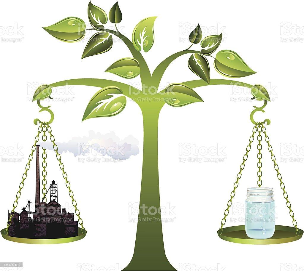 Environment - Industry Balance royalty-free stock vector art