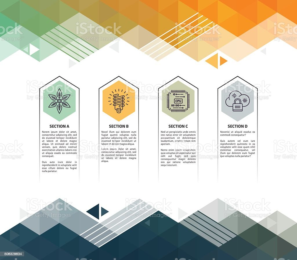 Environment Infographic Abstract Background royalty-free stock vector art
